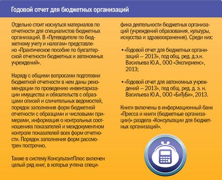 Годовой отчет для бюджетных организаций