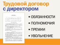 """Трудовой договор с директором в """"Конструкторе договоров"""""""