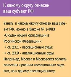 К какому округу отнесен ваш субъект РФ