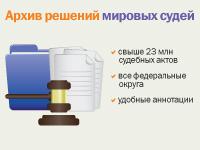 Архив решений мировых судей